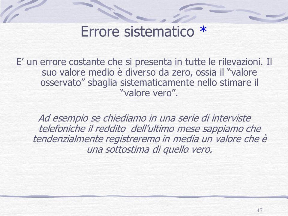 Errore sistematico *