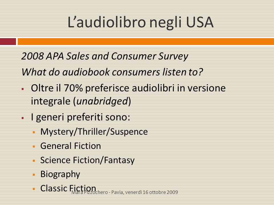 L'audiolibro negli USA