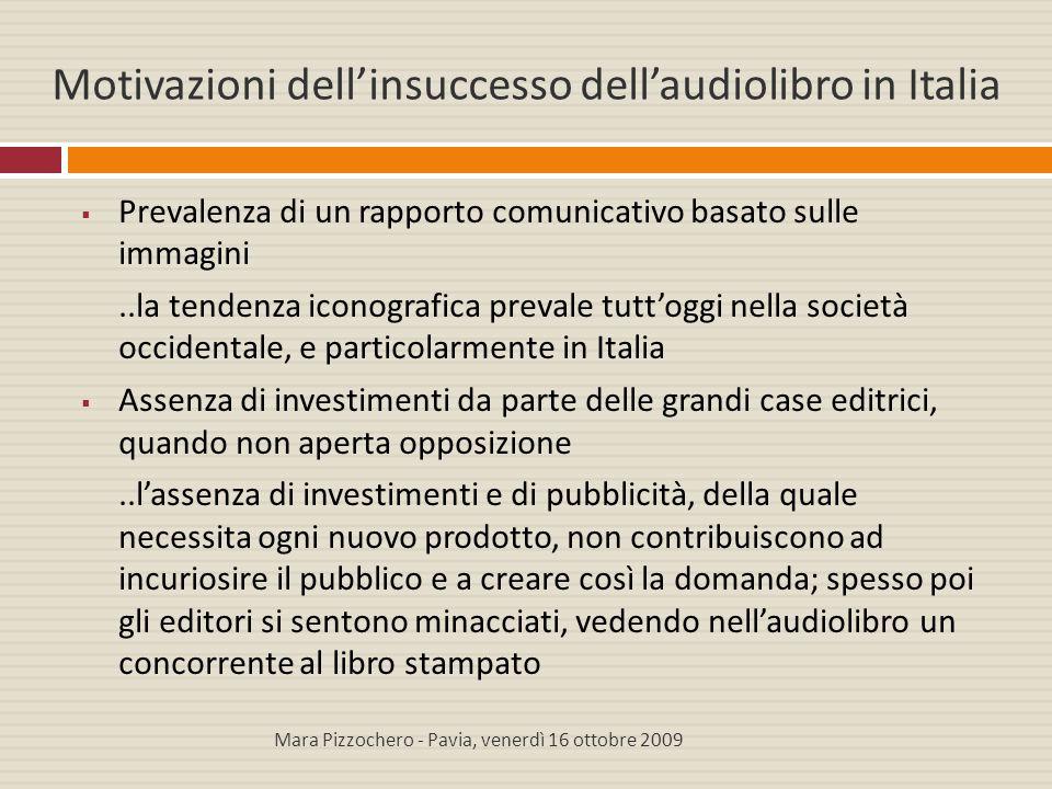 Motivazioni dell'insuccesso dell'audiolibro in Italia
