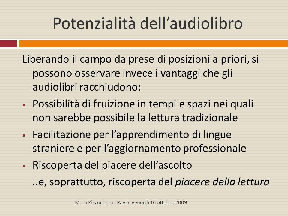 Potenzialità dell'audiolibro