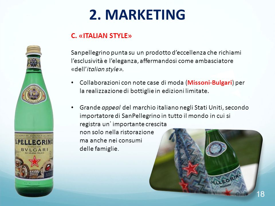 2. MARKETING C. «ITALIAN STYLE»