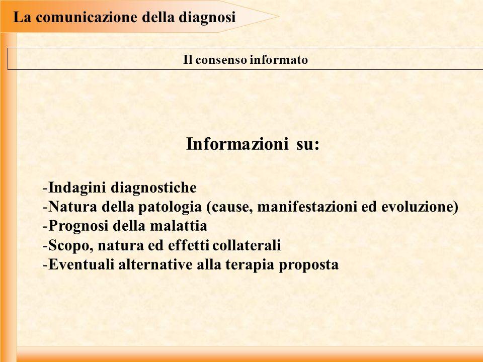 La comunicazione della diagnosi