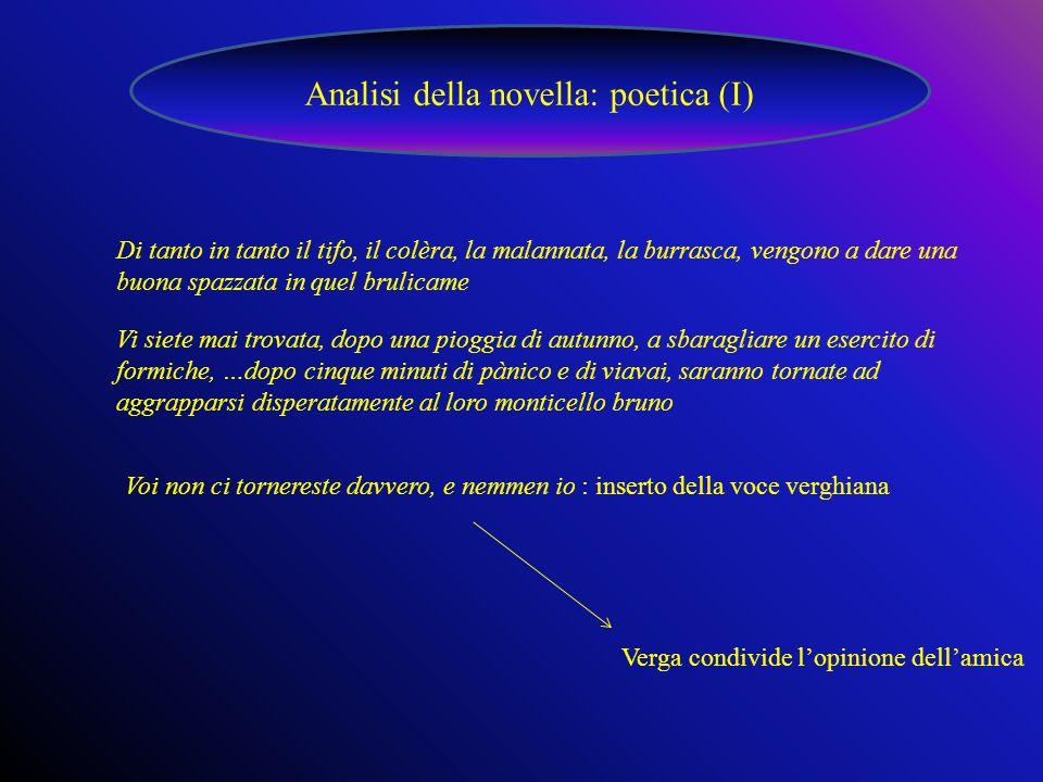 Analisi della novella: poetica (I)