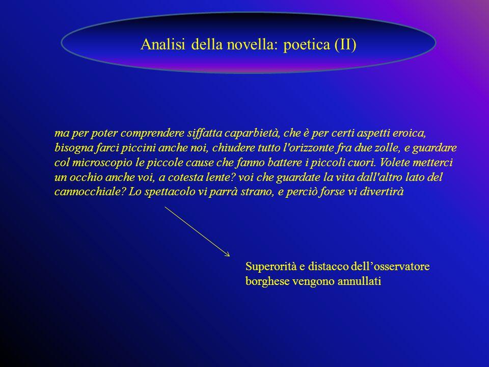 Analisi della novella: poetica (II)