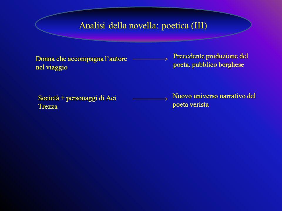 Analisi della novella: poetica (III)