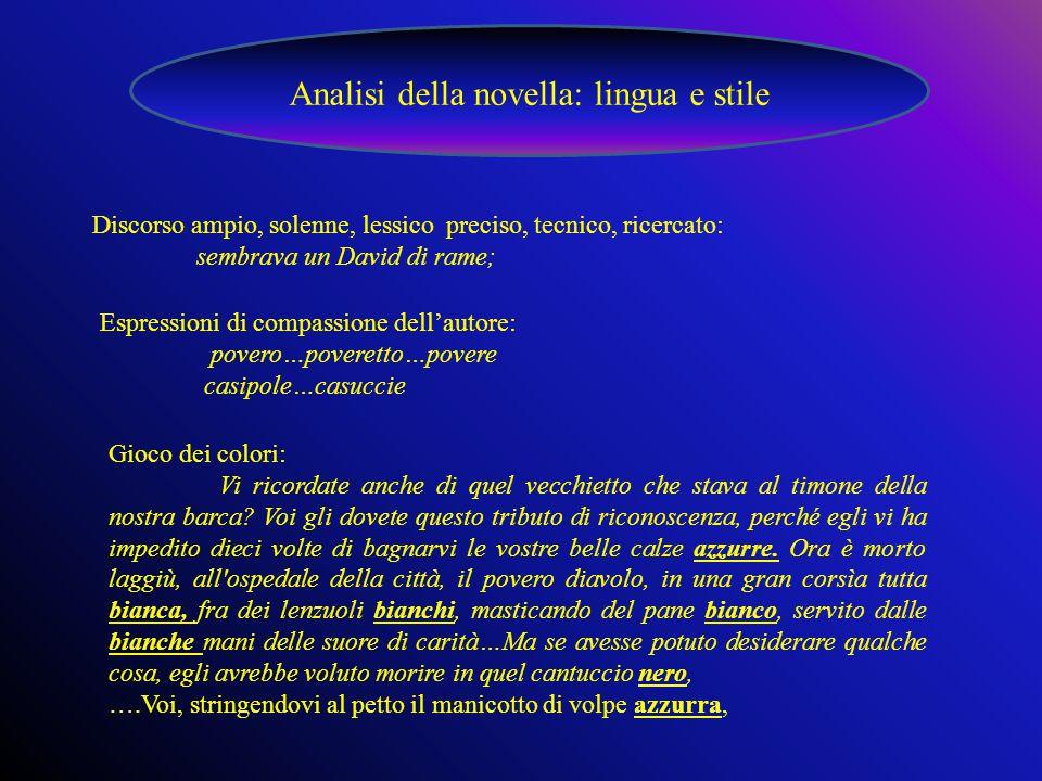 Analisi della novella: lingua e stile