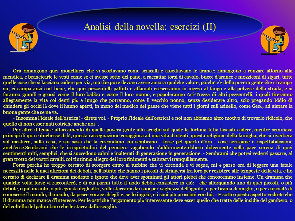Analisi della novella: esercizi (II)