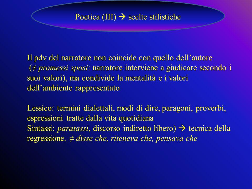 Poetica (III)  scelte stilistiche