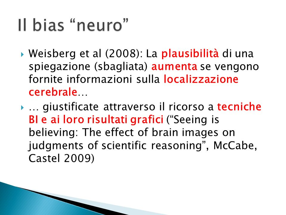 Il bias neuro