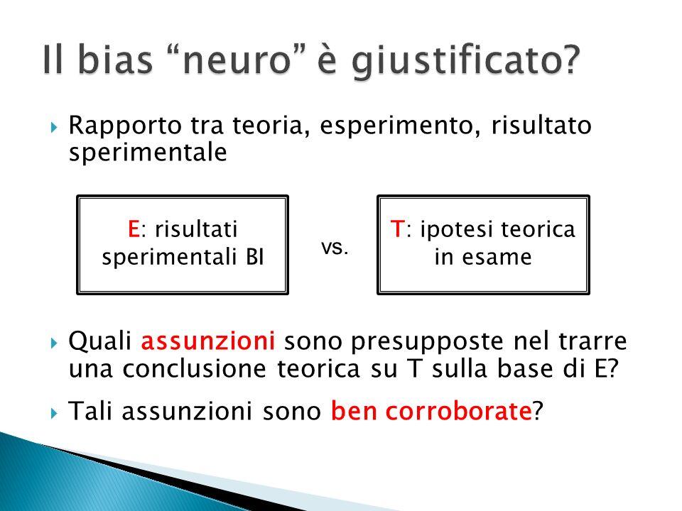 Il bias neuro è giustificato