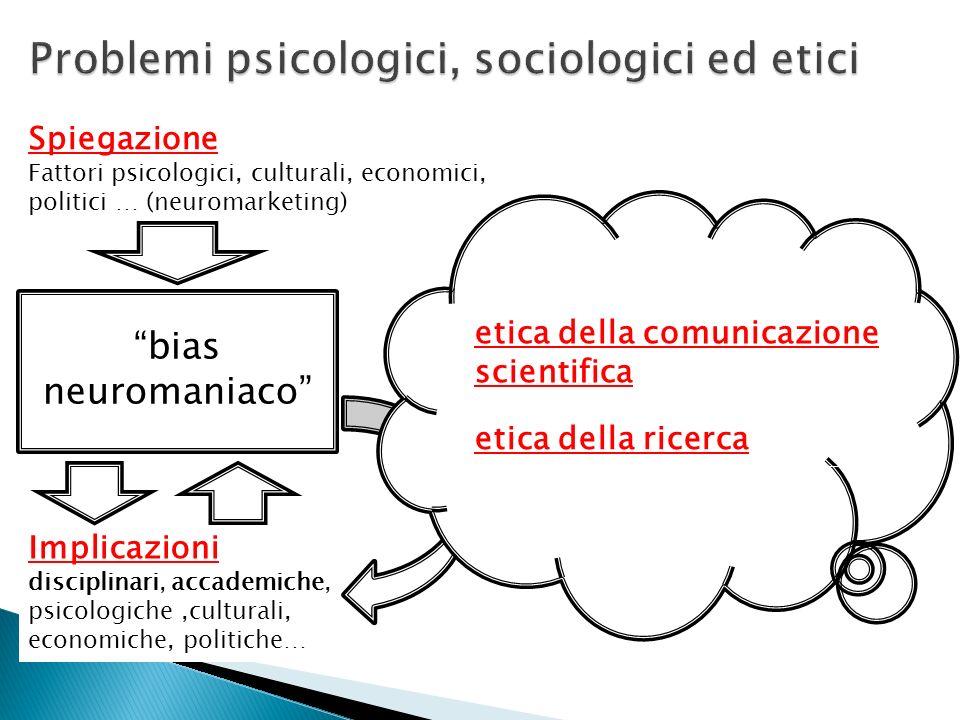 Problemi psicologici, sociologici ed etici
