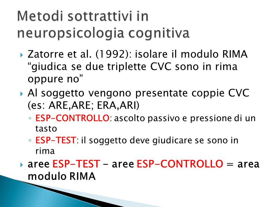 Metodi sottrattivi in neuropsicologia cognitiva