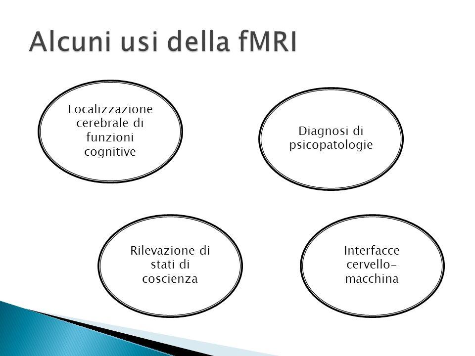 Alcuni usi della fMRI Localizzazione cerebrale di funzioni cognitive