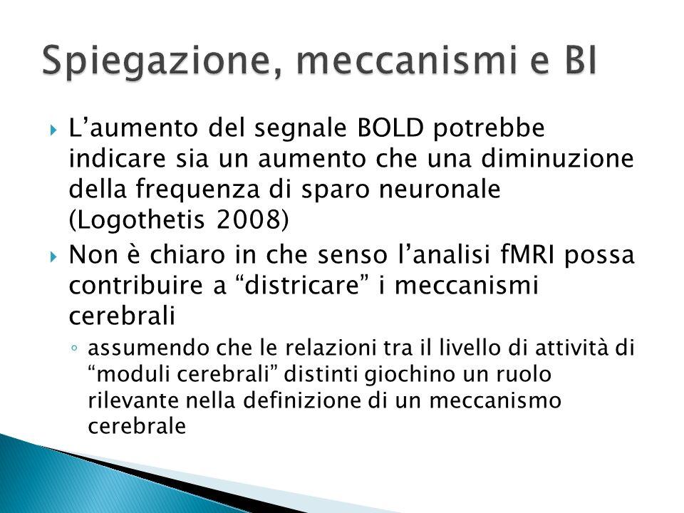Spiegazione, meccanismi e BI