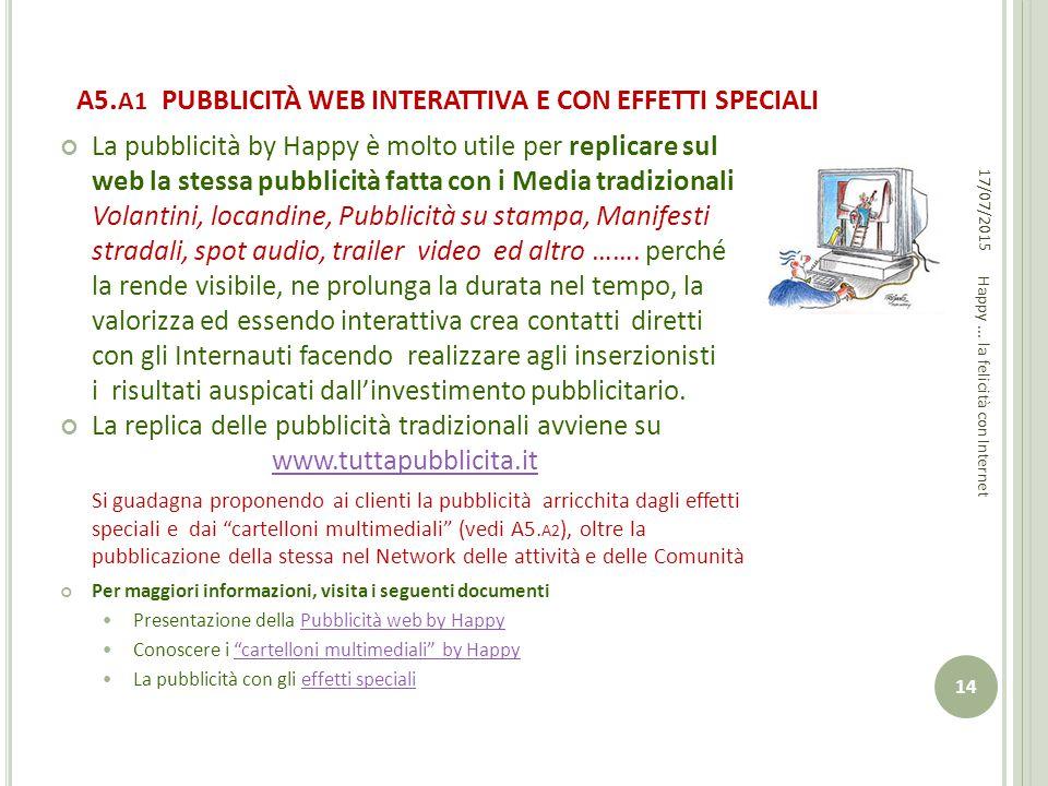 A5.A1 PUBBLICITÀ WEB INTERATTIVA E CON EFFETTI SPECIALI