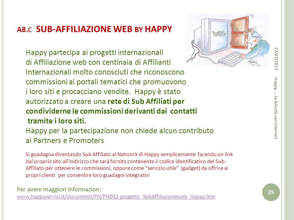 A8.C SUB-AFFILIAZIONE WEB BY HAPPY
