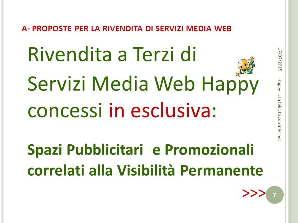 A- PROPOSTE PER LA RIVENDITA DI SERVIZI MEDIA WEB