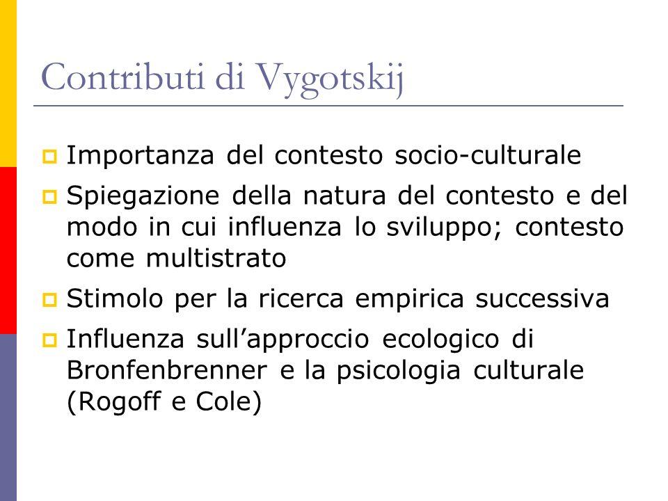 Contributi di Vygotskij
