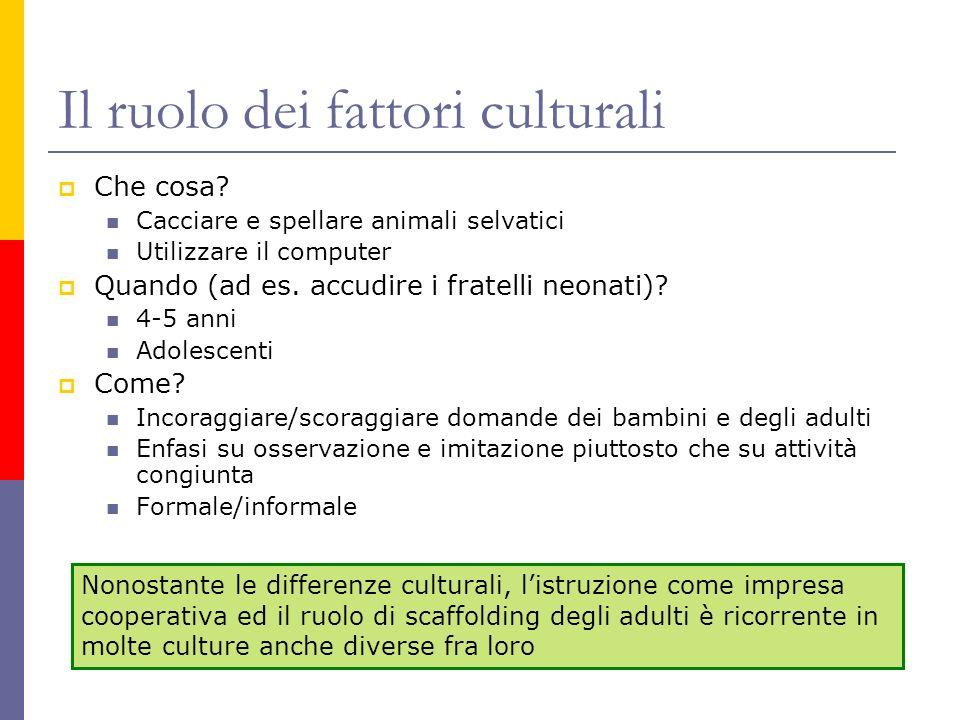 Il ruolo dei fattori culturali