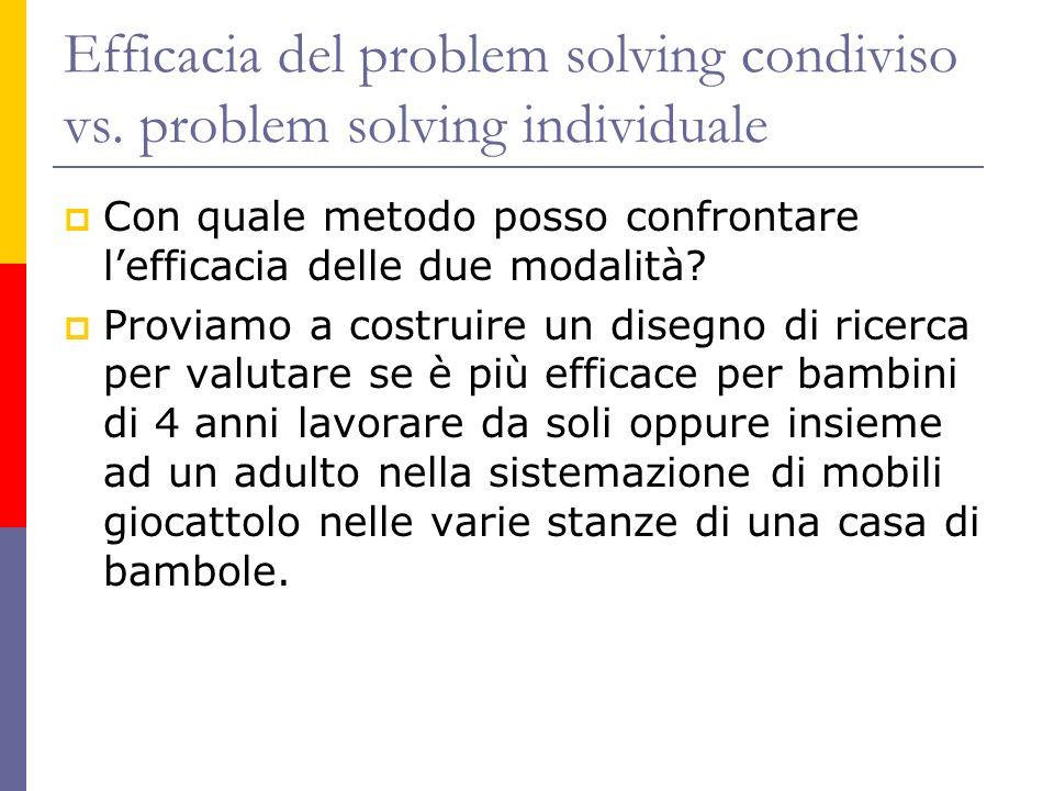 Efficacia del problem solving condiviso vs. problem solving individuale