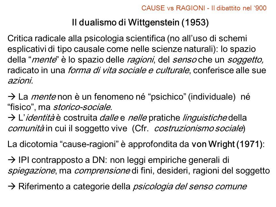 Il dualismo di Wittgenstein (1953)