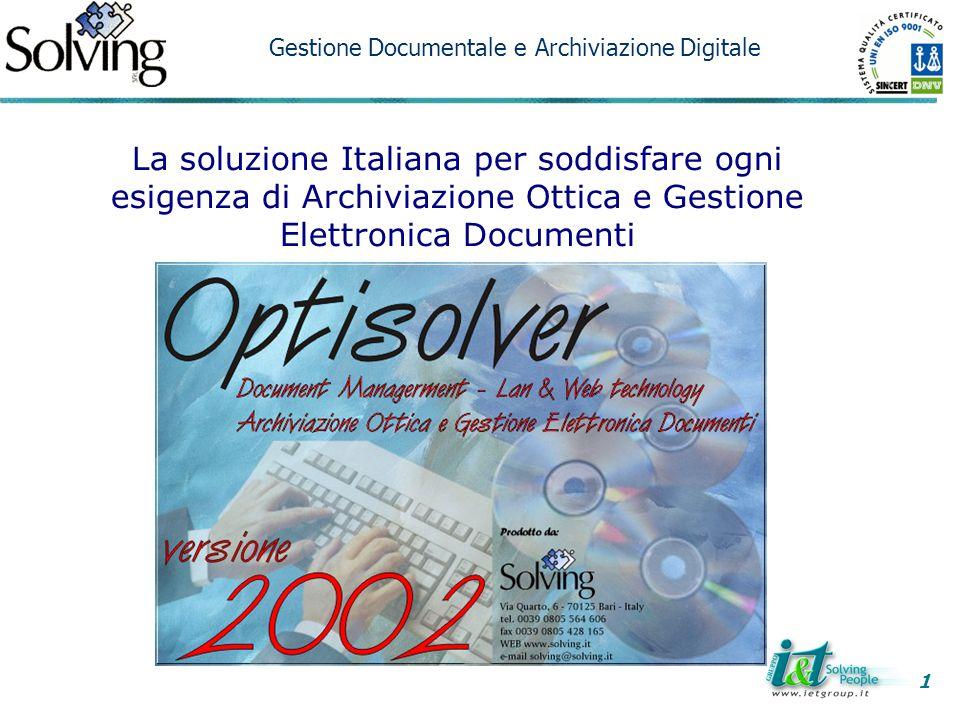 1 Gestione Documentale e Archiviazione Digitale.