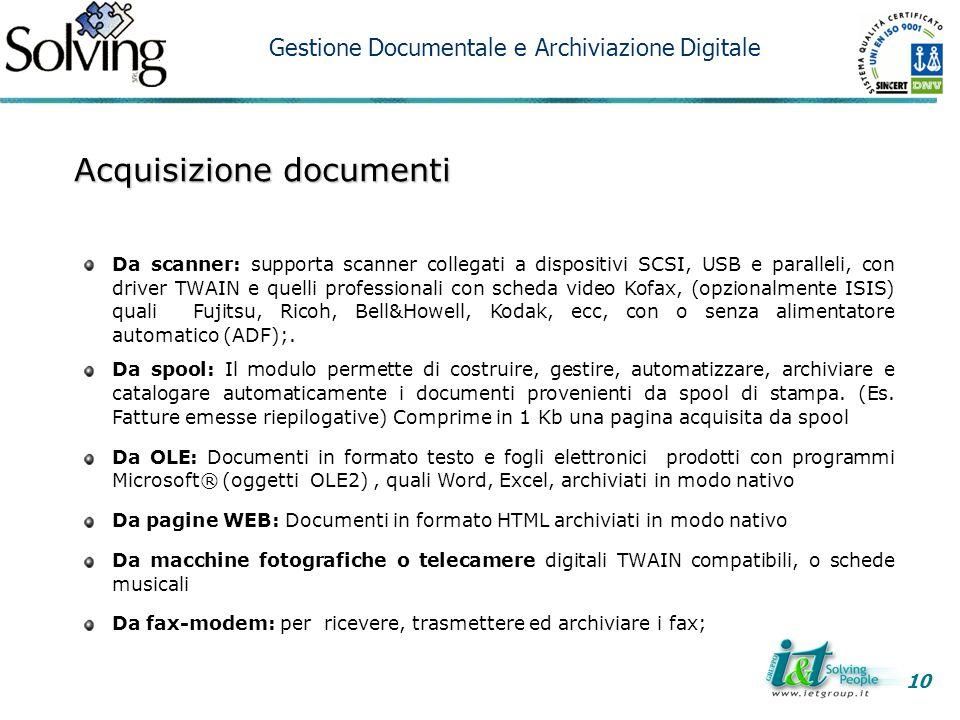 Acquisizione documenti