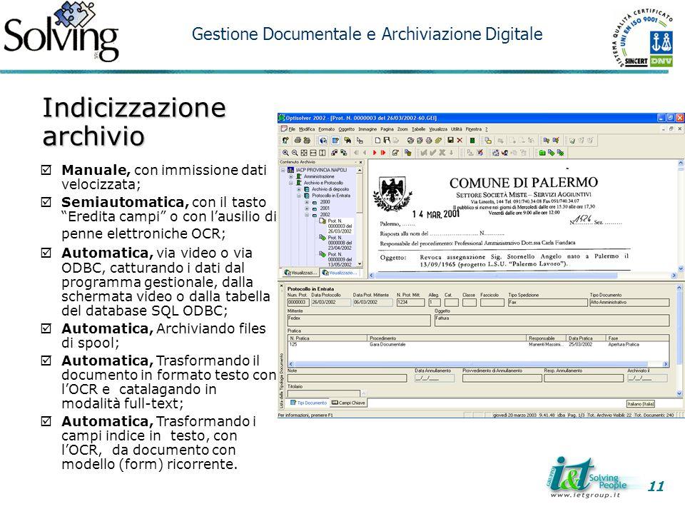 Indicizzazione archivio