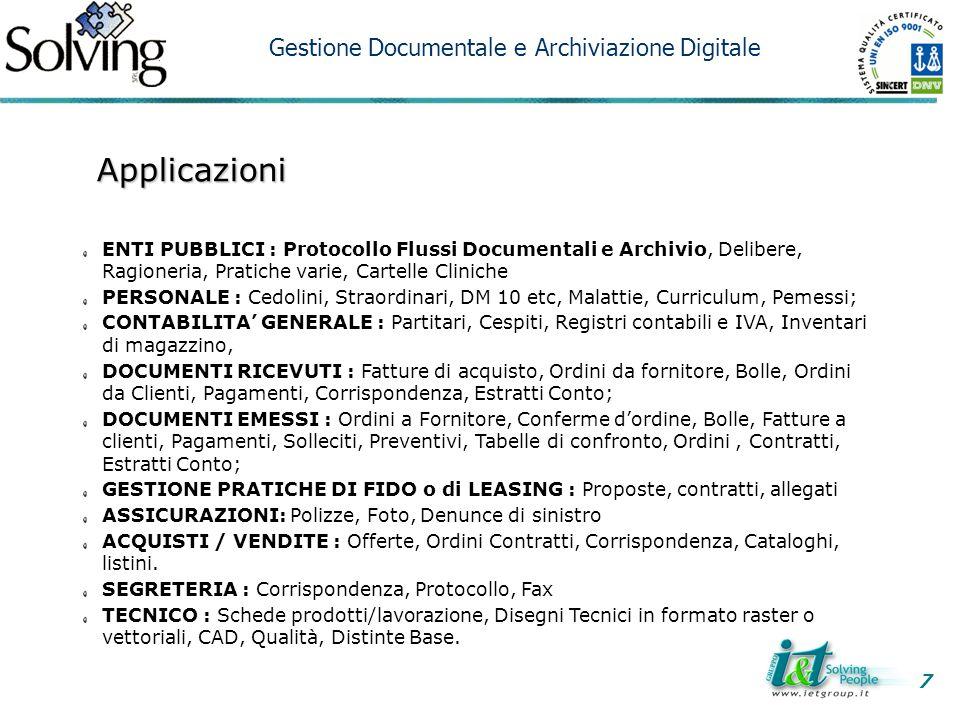 Applicazioni Gestione Documentale e Archiviazione Digitale