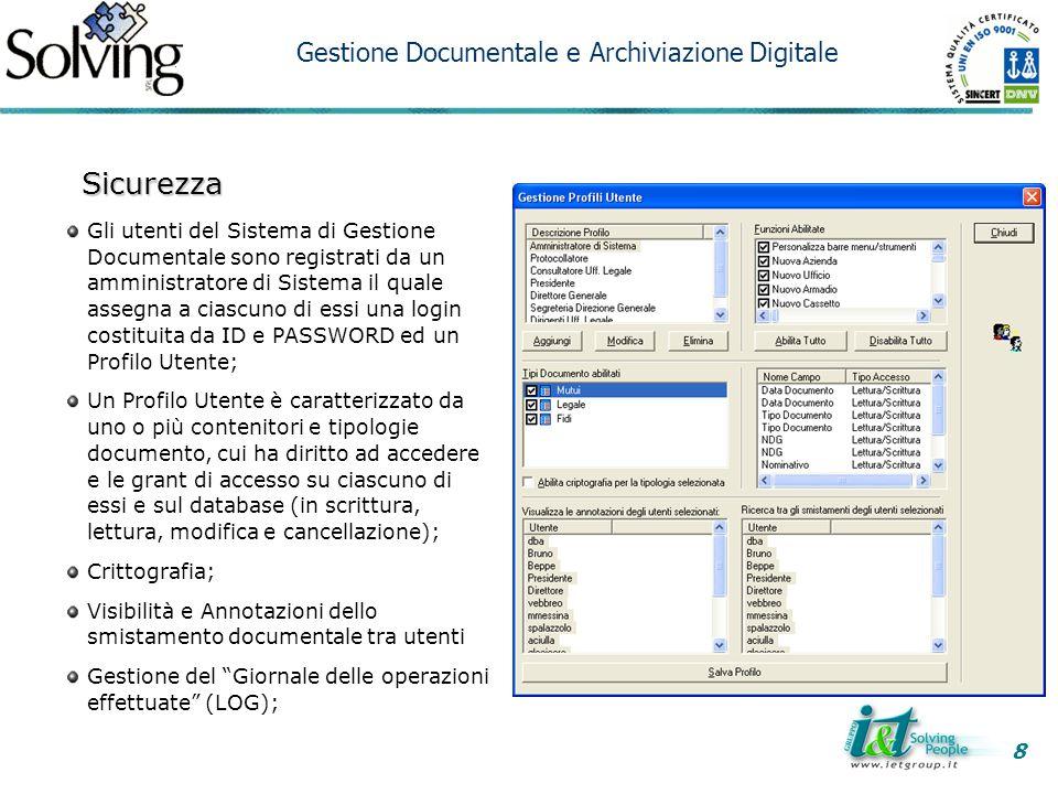 Sicurezza Gestione Documentale e Archiviazione Digitale