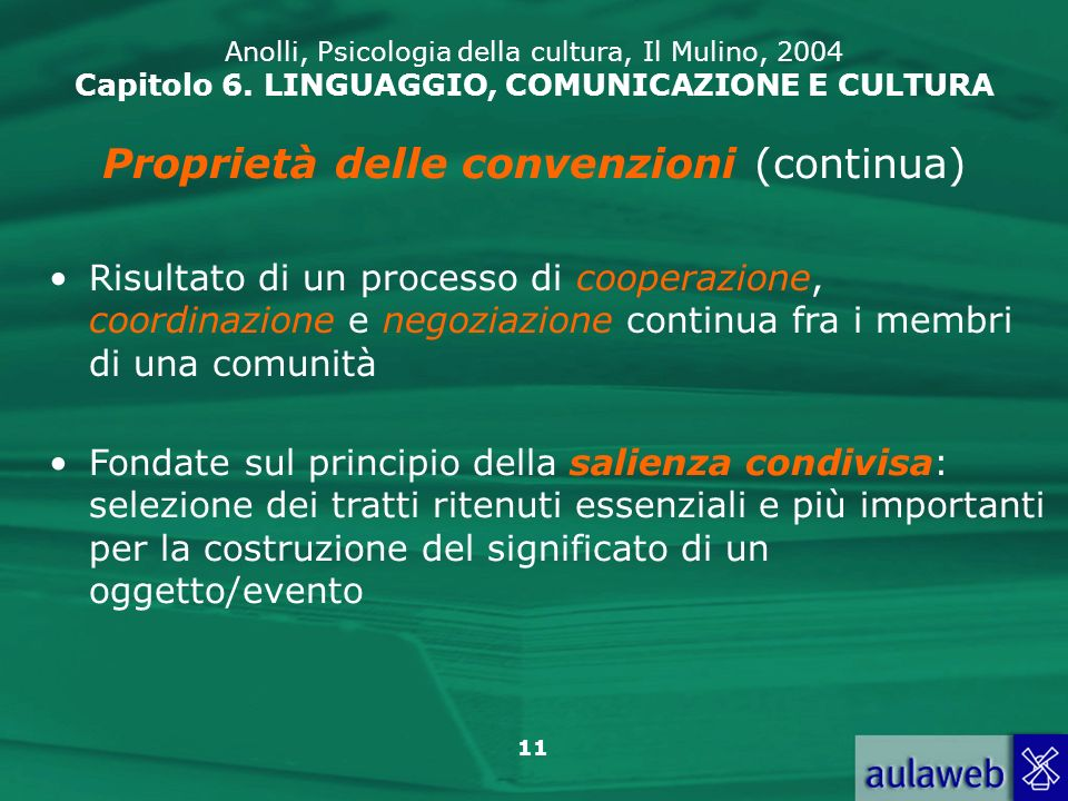 Proprietà delle convenzioni (continua)