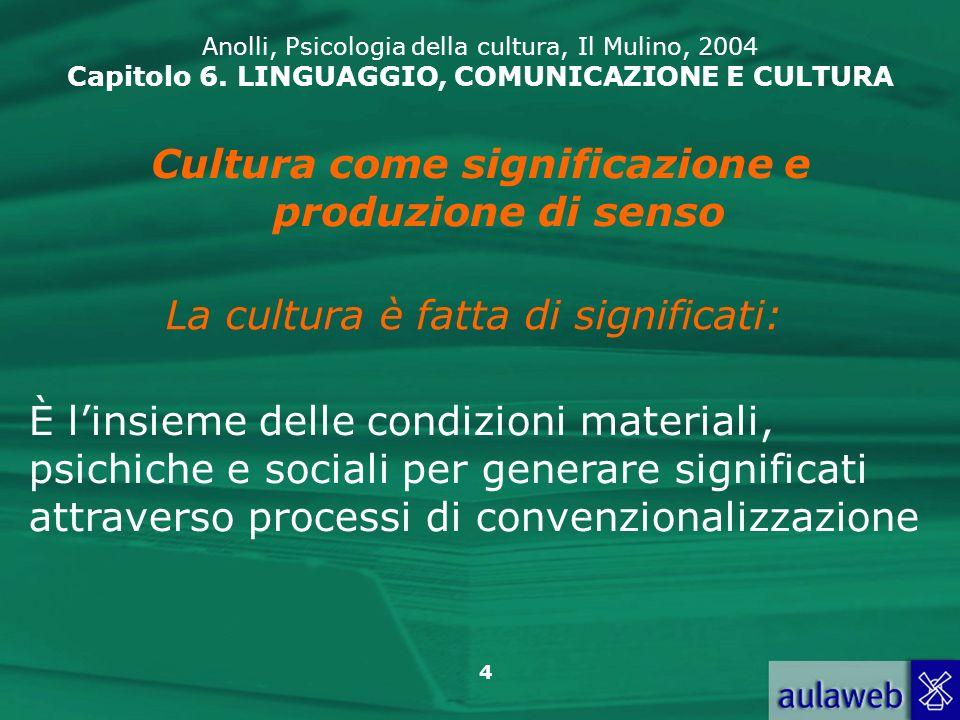 Cultura come significazione e produzione di senso
