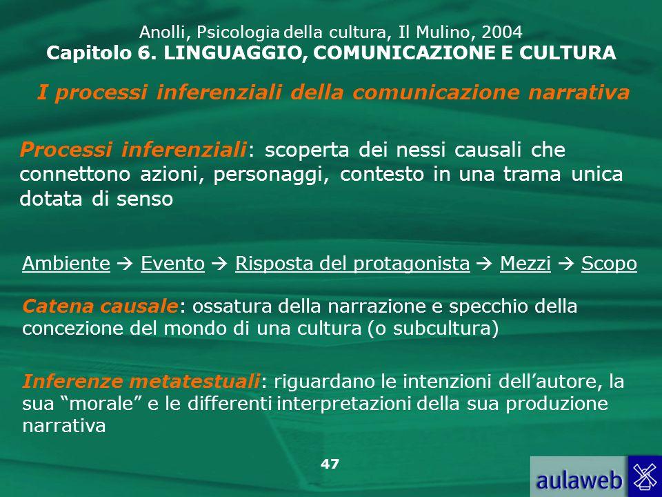I processi inferenziali della comunicazione narrativa