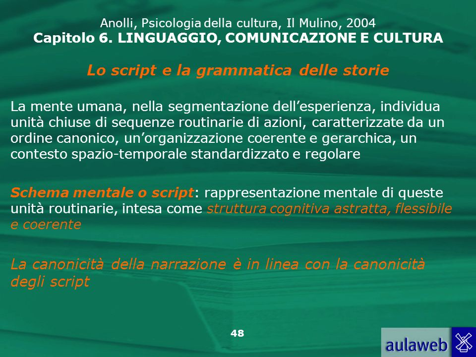 Lo script e la grammatica delle storie
