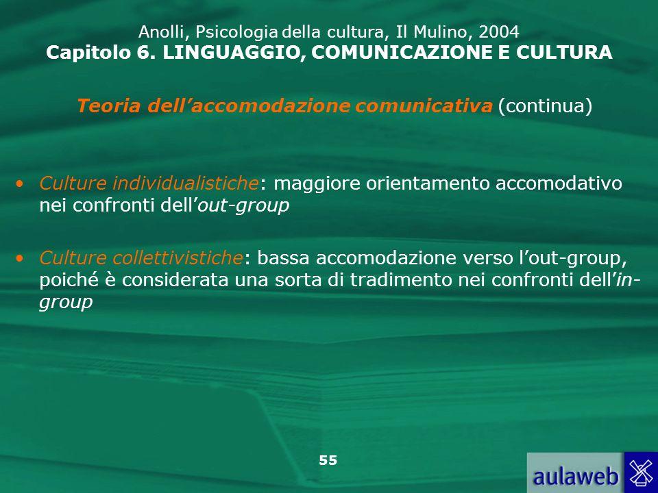 Teoria dell'accomodazione comunicativa (continua)