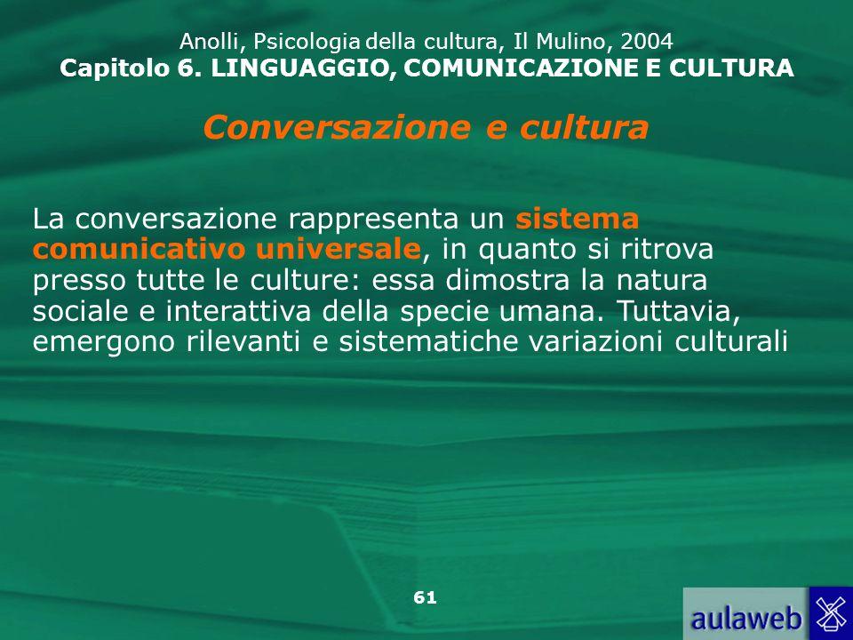 Conversazione e cultura