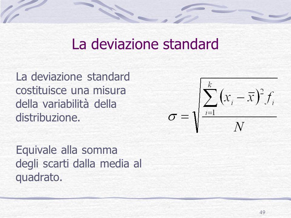 La deviazione standard