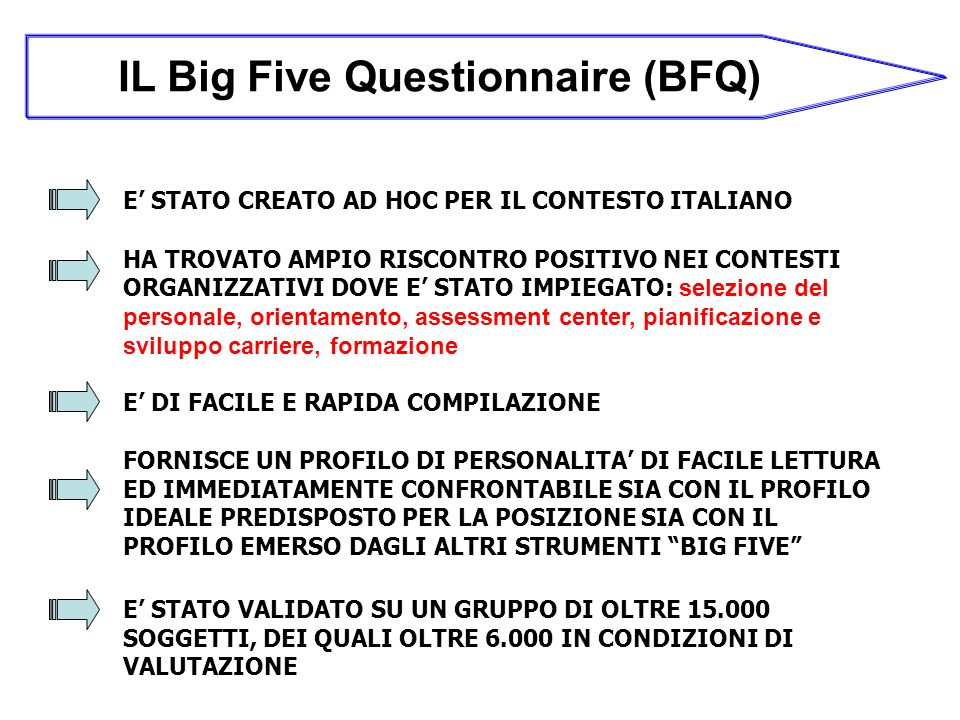 IL Big Five Questionnaire (BFQ)