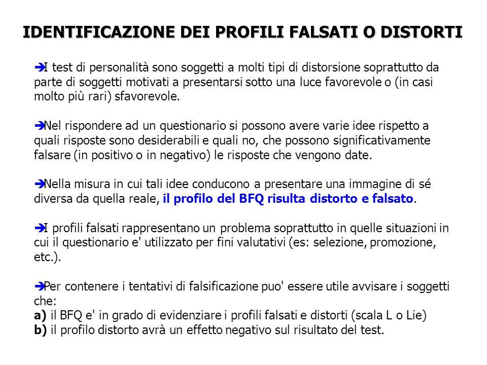 IDENTIFICAZIONE DEI PROFILI FALSATI O DISTORTI