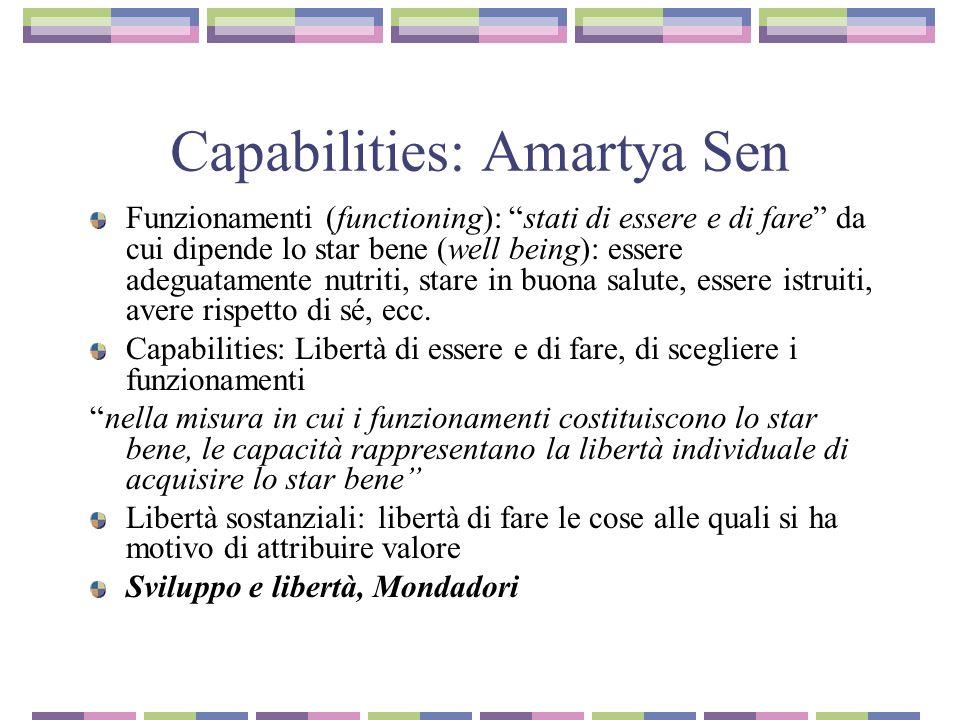 Capabilities: Amartya Sen