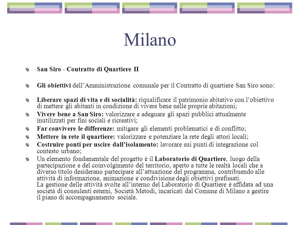 Milano San Siro - Contratto di Quartiere II
