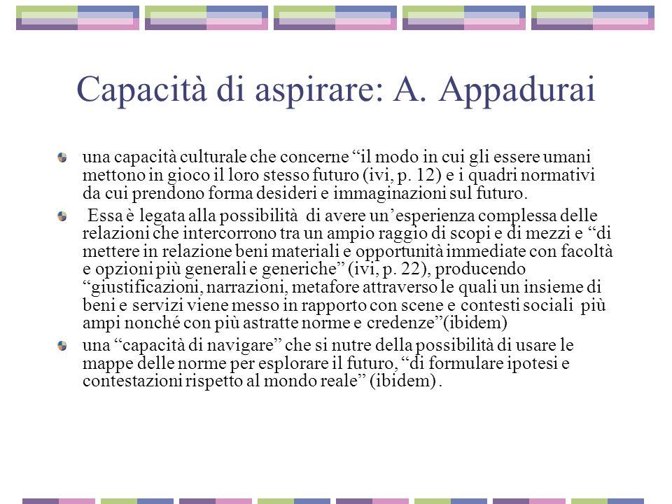 Capacità di aspirare: A. Appadurai