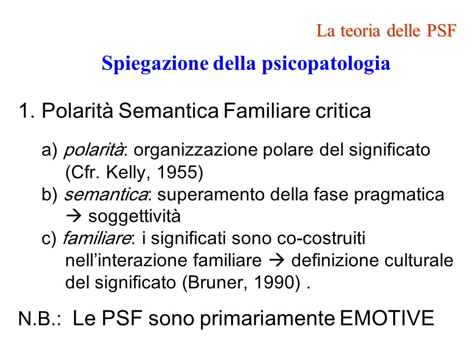 Spiegazione della psicopatologia