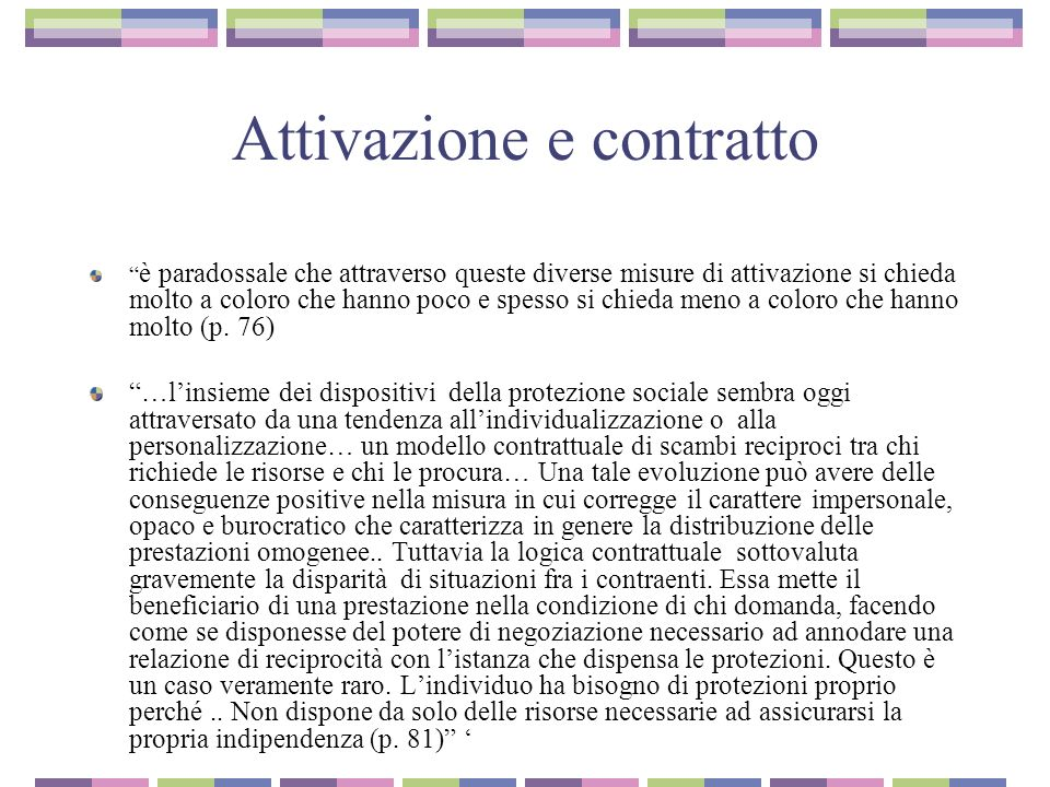 Attivazione e contratto