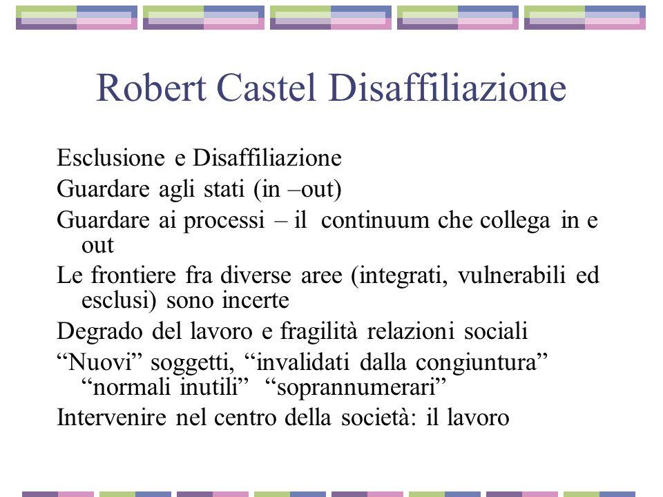 Robert Castel Disaffiliazione