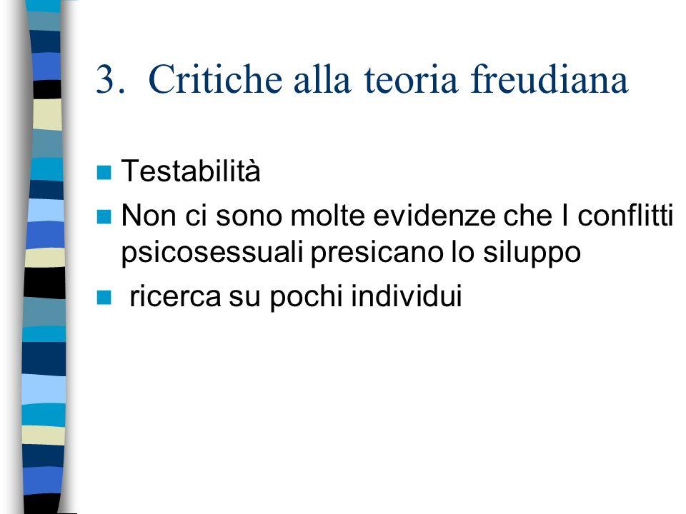3. Critiche alla teoria freudiana