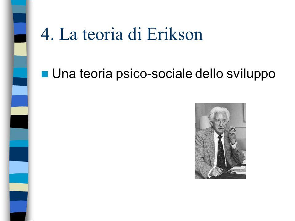 4. La teoria di Erikson Una teoria psico-sociale dello sviluppo