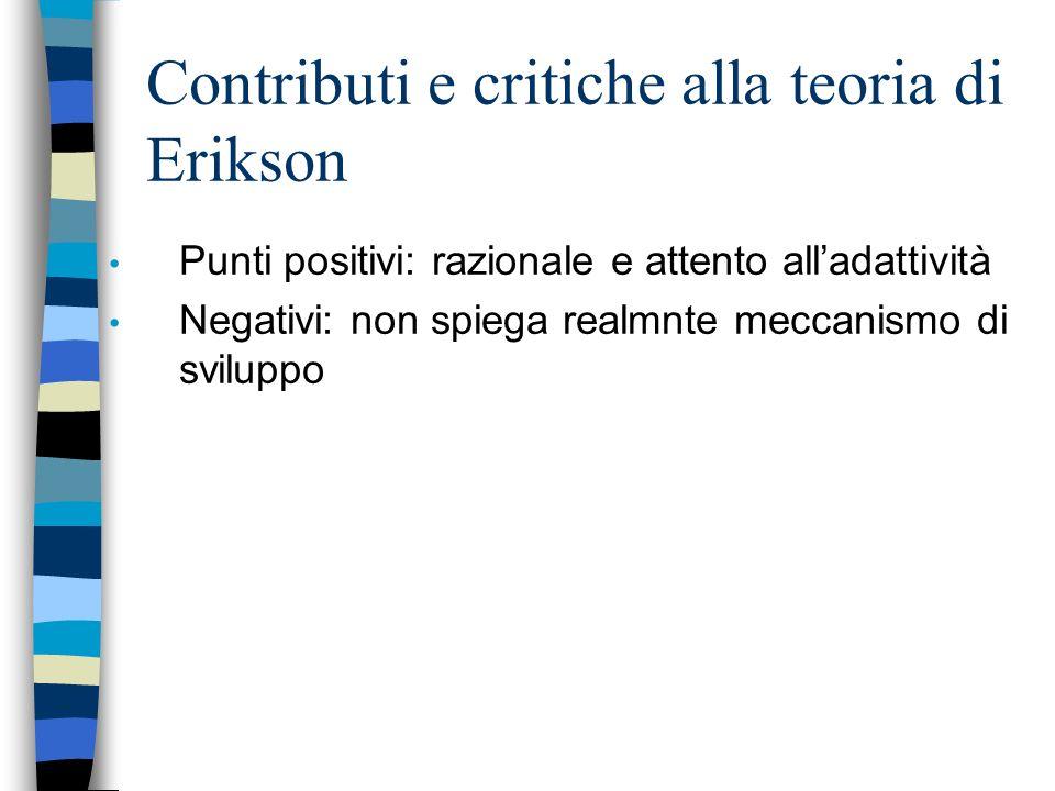 Contributi e critiche alla teoria di Erikson