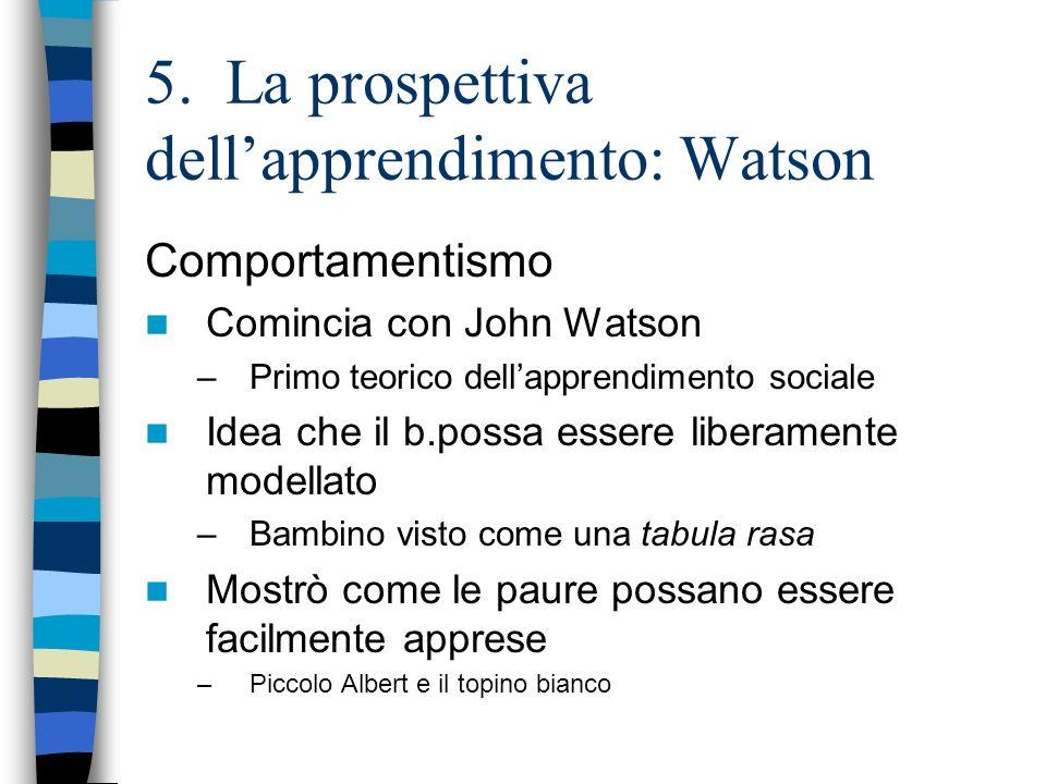 5. La prospettiva dell'apprendimento: Watson