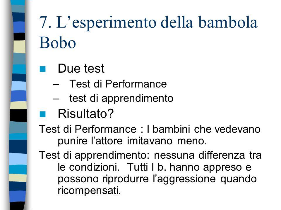 7. L'esperimento della bambola Bobo